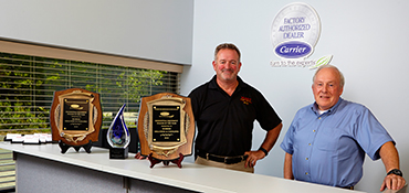 Robies, with 58 years of service, has received the President's Award for Excellence from Carrier.