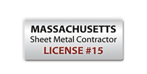 Robies is a licensed MA sheet metal contractor.