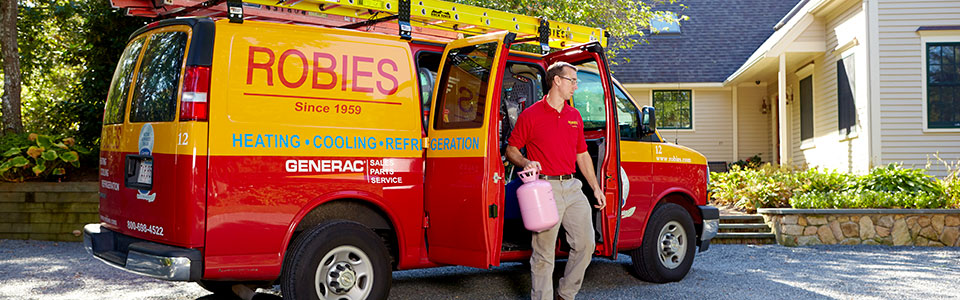 Maintain your furnace, boiler or air conditioning units by Robies expert technicians.