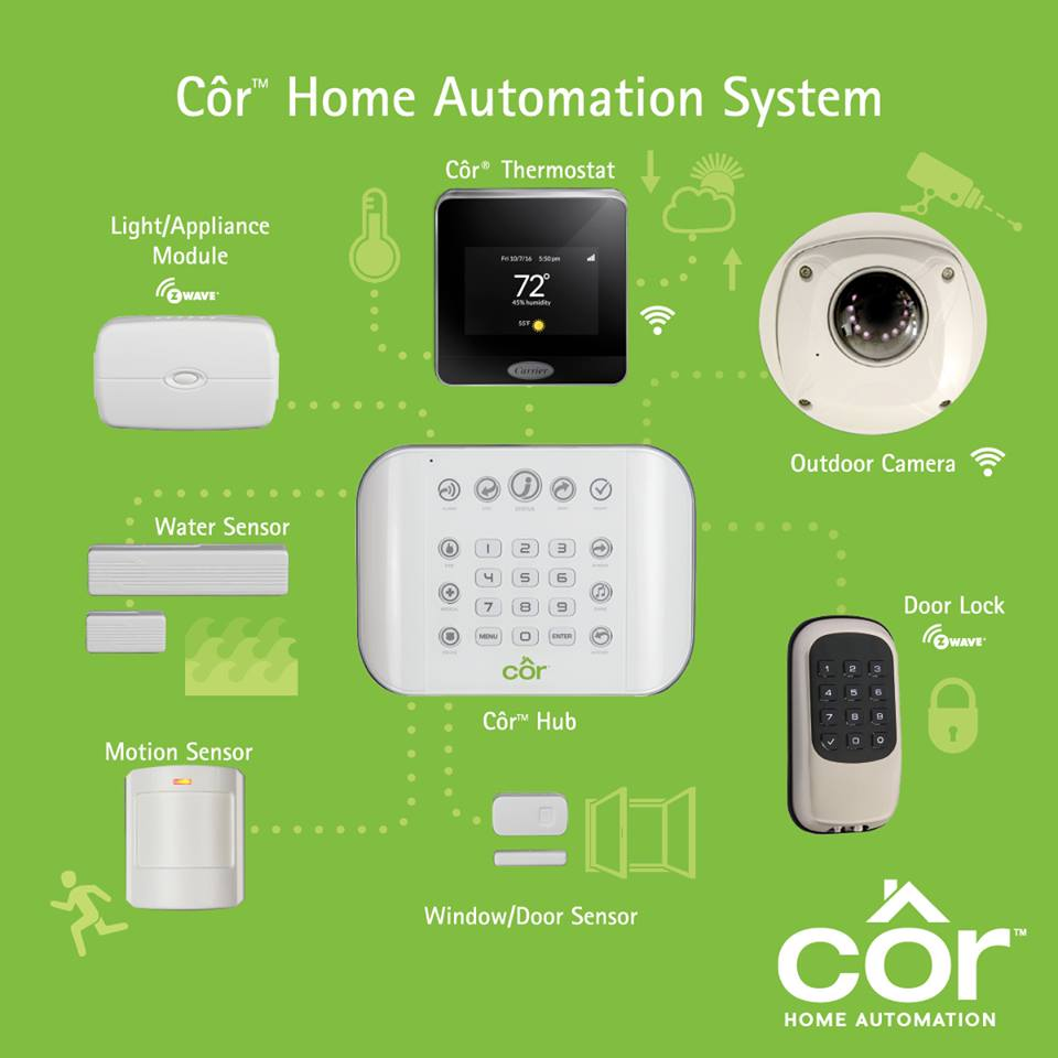Carrier Cor Home automation system
